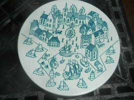 Nymolle Art Faience Denmark Hoyrup Painted Plate Ring Soap Dish Trinket ... - $14.01