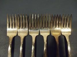 "Six Avon Silverplate AVON Pattern Salad Forks 6 1/8"" Made 1940 Internati... - $19.79"