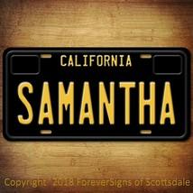 Samantha California Name License Plate Aluminum Vanity Tag - $16.82