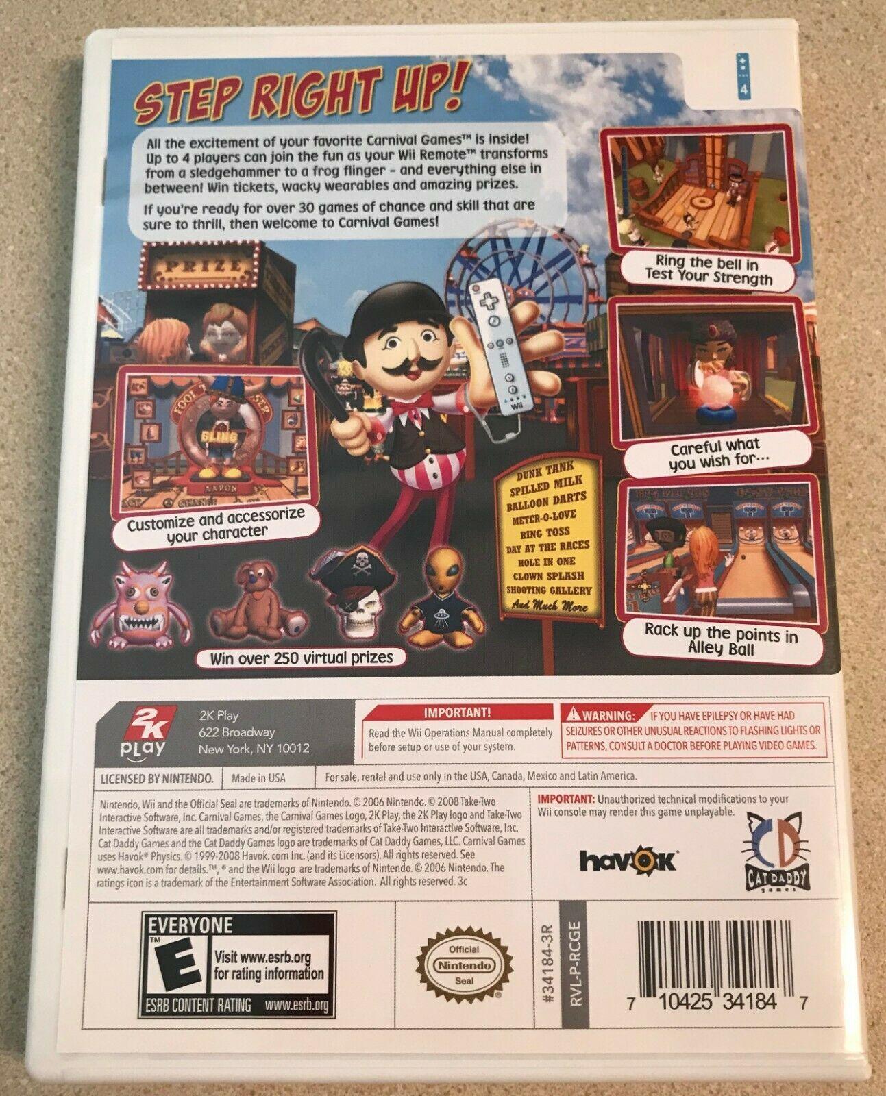 Carnival Games (Nintendo Wii, 2007) Game image 2