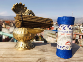 Medicine Buddha Tibetan Brocade Mini Incense,Nepal - $2.87