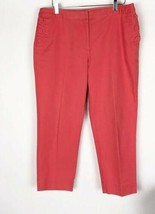 Womens Talbots Size 14 Orange Cotton Career Casual Capri Pants - $19.79