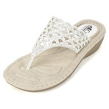 Cliffs By White Mountain Women's Cameo Wedge Sandal, White, 6 US/6 M Us - $36.58