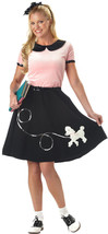 50's Hop w/Poodle Skirt Outfit - Adult Costume - $24.99