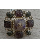 NWT 100% AUTH Chanel A61428 BAROCKS Crystal multicolored stone ring $1150 - $772.20