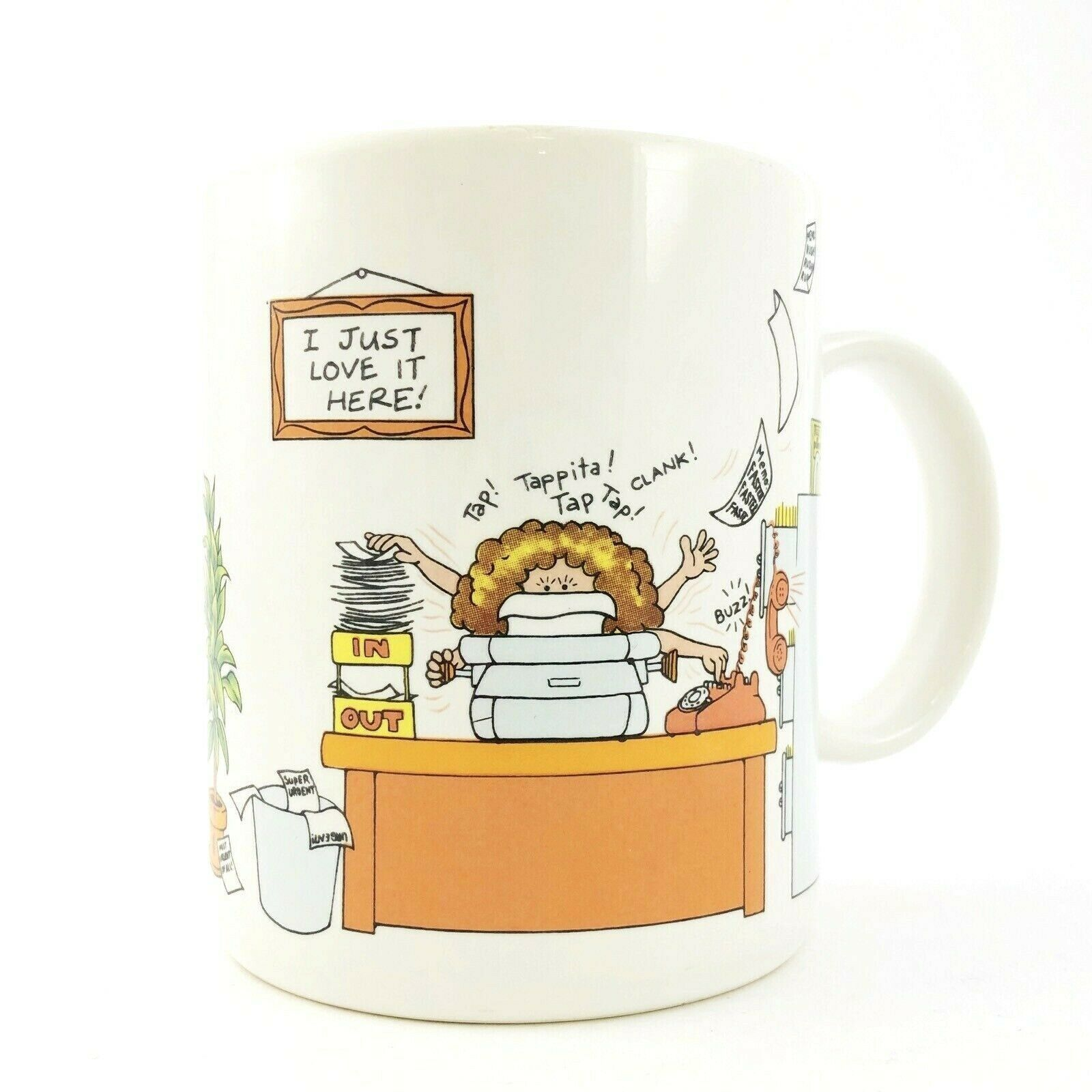 Primary image for Vintage Hallmark Coffee Mug Cup How to Get Along Office Humor 12 oz Hallmark