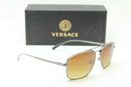 New Versace Mod. 2216 1001/13 Silver Gradient Authentic Frame Sunglasses 61-15 - $332.86