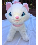 "12"" MARIE White Cuddly Kitten PLUSH Kitty Cat from Disney Movie ""The Ari... - $13.37"