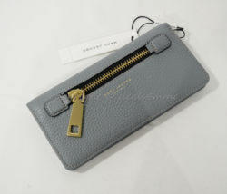 NWT MARC By Marc Jacobs M0008451 Gotham Leather Open Face Wallet Dolphine Blue - $139.00