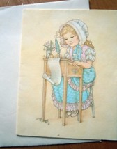 Mid Century Ambassador Cards Young Girl Blank Note Card 1960s - $0.99