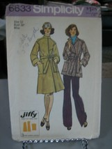 Simplicity 6633 Misses Jiffy Unlined Front Wrap Coats Pattern - Size 12 ... - $8.90