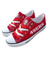 49ers shoes womens sneakers mens fashion sf 49ers tennis shoe custom fan... - $59.99+
