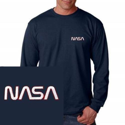 536702299cfd Nasa Embroidered Long Sleeve Navy Blue T and 50 similar items. S l500 3