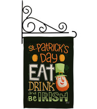 Be Irish - Impressions Decorative Metal Fansy Wall Bracket Garden Flag S... - $27.97