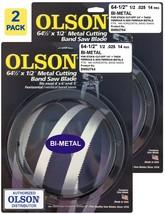 "Olson Bi-Metal Metal Cutting Band Saw Blades  64-1/2"" inch x 1/2"", 14TPI... - $51.99"