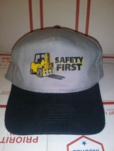 Safety First Skidster Hat Gray/Grey Black Bill 1 size OTTO 100% Cotton F... - €6,24 EUR