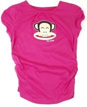 M 7/8 Paul Frank Tee Shirt Girl's Julius Monkey Pink Braces T-Shirt NEW