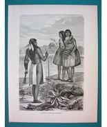 AMERICAN WEST Indians of Rio Colorado  - 1866 Antique Print  - $16.20