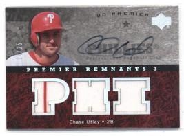 2007 Upper Deck Premier Remnants Triple Autographs #CU Chase Utley Phill... - $58.88