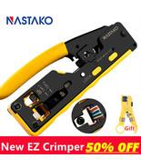 Crimper Cable Crimping Tools For RJ45 Cat7 Cat6 All In One EZ RJ45 Tool ... - $59.56
