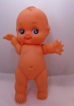 "Kewpie 9"" Doll Vinyl Big Blue Eyes with Long Lashes Made in Hong Kong 19... - $10.22"