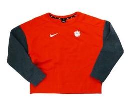 Nike Clemson Tigers Sideline Crew Neck Sweatshirt Women's M Orange Grey ... - $44.55
