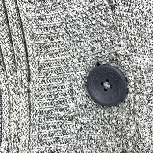 Anthropologie Rosie Neira Womens Sz L Marled Gray Cardigan Sweater Single Button image 6