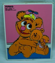 Vintage 1983 The Muppet Babies Fozzie Bear Wooden Frame Tray Puzzle - $19.80