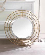 Wall Mirror Round With Modern Gold Circle Frame - $44.89