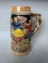 Vintage German Style Large Stein Dancing Girl and Man Playing the Flute ... - $12.86