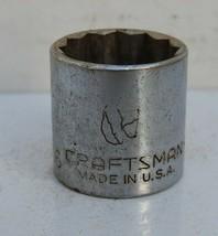 "Vintage Craftsman 13/16"", G Series, #44338 12 Point 3/8ʺ Drive Socket USA Made - $8.81"