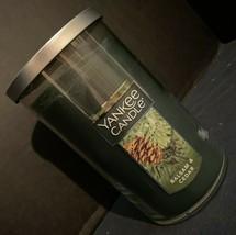 Yankee Candle Balsam Cedar Holiday Scent Medium Pillar Jar 12 oz Unused ... - $20.03