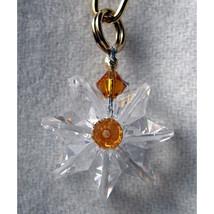 Clear Miniature Crystal Daisy Earrings image 3