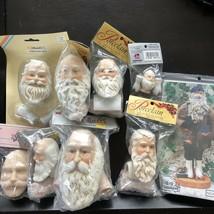 """Santa Doll Porcelain Head & Hands Vintage NOS MANGELSEN'S Choice 1.5"""", 3... - $11.15"""