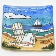 Fused Art Glass Adirondack Chair Summer Beach Design Soap Dish Handmade Ecuador image 1