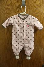 Carter's Pink Fleece One-Piece Pajamas with Monkeys - Size 3M Girls - $8.99