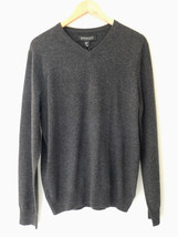 NWT Harrison Davis 100% Cashmere Men's Gray V Neck Sweater M $245 - $168.00