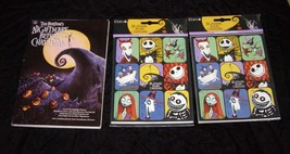 Disney The Nightmare Before Christmas Novel & 2 Packs New Stickers - $26.99