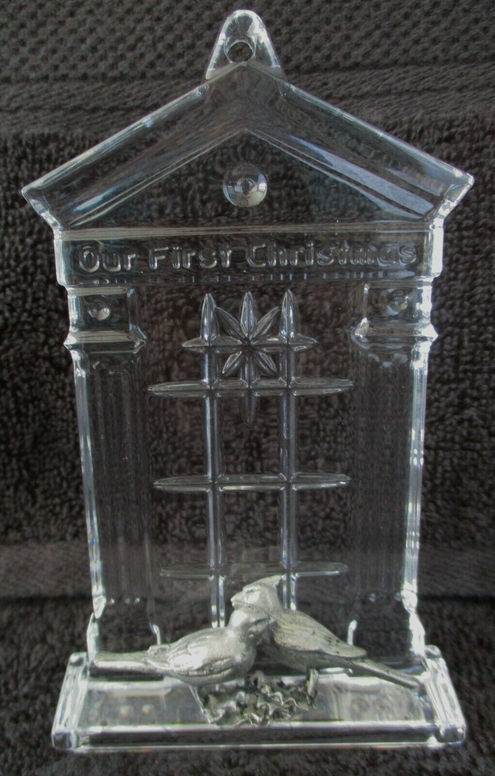 """Waterford Crystal Christmas Ornament """"Our First Christmas"""" 2005 - $29.70"""