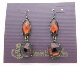 Premier Designs Bejeweled Topaz Rhinestone Gold Tone Dangle Earrings 30558 - $13.86