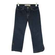 GAP Stretch Jeans 6 Cropped Boot Cut Mid Rise Dark Wash Split Hem Denim ... - $16.68