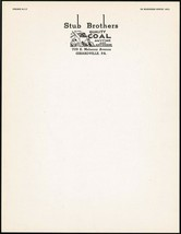 Vintage letterhead STUB BROTHERS COAL with truck pictured Girardville PA... - $8.09
