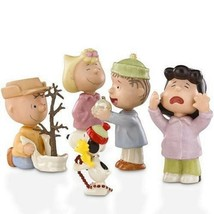 Lenox Peanuts Christmas Figurine Set Charlie Brown That's What Is All Ab... - $109.98