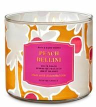 Bath & Body Works Peach Bellini 3 Wick Scented Candle 14.5 oz - $24.30
