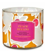 Bath & Body Works Peach Bellini 3 Wick Scented Candle 14.5 oz - $24.30