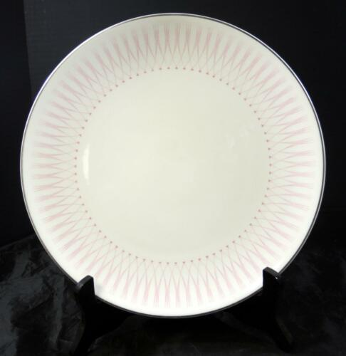 Retro Mid Century Royal Doulton Dinner Plate * Pink Radiance Pattern