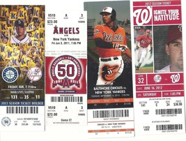 MLB Lot Of 8 New York Yankees Milestones Ticket Stubs OR Sold Individually - $26.11