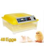 Egg Incubator Hatcher 48 Digital Clear Temperature Control Automatic Tur... - $152.51