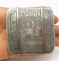 LG 883 925 Silver - Vintage Antique Two Tone Bethlehem Cigarette Case - ... - $112.39
