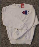 Champion Logo Sweatshirt in Sz 3X in White - $24.74